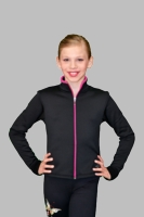 Color Zipper Fitted Jacket by Polartec J48