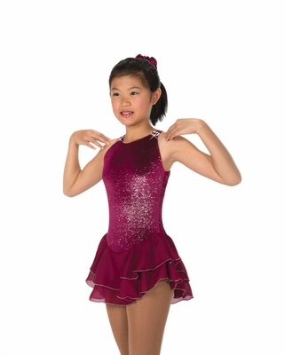 Ice Shimmer Dress - Sangria