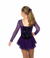 Rhinestone Dress – Purple