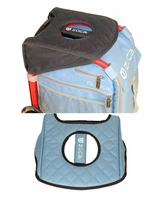 Zuca Seat Cushion Charcoal Gray/Gloss Blue