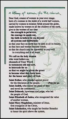 A Litany of Women for the Church