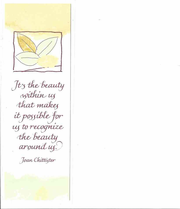 Bookmark: It's the beauty within us