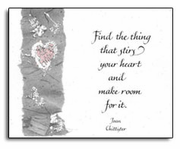 Note Cards: Find the Thing that Stirs your Heart
