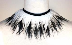 2 Tone Fuzzy Choker - Pick Your Colors!
