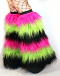 6-Tone GoGo Fluffies Hot Pink, Lime Green, Black