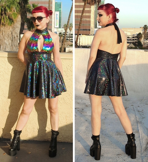 Midnight Rainbow Iridescent Dress