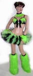 Black Lime Full Rave Outfit