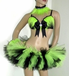 Black Lime Rave Outfit (3 piece)