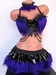 Black Purple Furry Rave Outfit