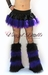 Black Vinyl with Purple Fur Skirt