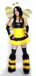 "Black Yellow ""Bumble Bee"" Rave Costume"