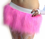 Candy Pink Sparkle Furry Skirt