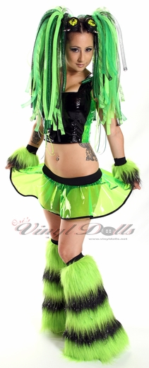 Clear UV Lime Green Vinyl Skirt