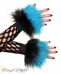 Custom Glitter 2 Tone Furry Wrist Cuffs - Choose Your Colors!