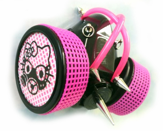 Cyber Respirator Hello Kitty Pink Tubing and Mesh