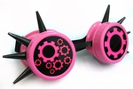 CyberGoth Goggles UV Pink Industrial Circles and Spikes