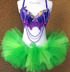 Fancy Ariel Little Mermaid inspired Rave Outfit
