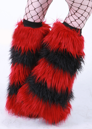 Deep Red Black Striped Fluffies