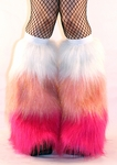 Glitter 3 Tone White, Baby Pink, Hot Pink Fluffies
