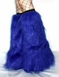 Sparkle Royal Blue Fluffies Leg Warmers
