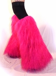 Sparkle Hot Pink Fluffies Leg Warmers