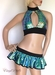Iridescent Green Fish Scale Holographic Outfit