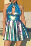 Iridescent Opal Holographic Dress