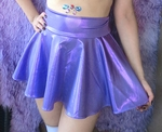 Lavender Purple Holographic Skater Skirt