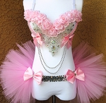 Light Pink Silver Princess Rave Outfit