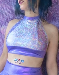 Lilac Purple Holographic Top