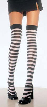 Over The Knee Stripes Stockings