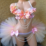 Pastel Peach and Light Pink Rave Outfit