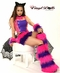 Pink and Purple Cheshire Cat Furry Outfits