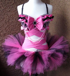 Pink Black Rave Outfit