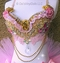 Pink Gold Diamond Princess Rave Bra