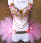 Pink Gold Diamond Princess Rave Outfit