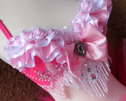 Pink Princess Floral Rave Outfit