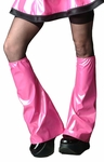 Pink Vinyl Leg Warmers / Boot covers