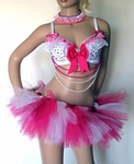 Pink White Princess Doll Rave Outfit