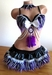 Purple Black White Indian inspired Rave Outfit