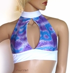 Purple Blue Holographic Halter top