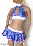 Purple Blue Holographic Outfit