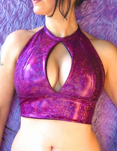 Purple Fuchsia Holographic Top