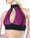 Purple Fuchsia Shattered Glass Holographic Halter top
