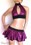 Purple Fuchsia Shattered Glass Holographic Outfit