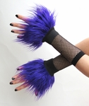 Purple Furry Wrist Cuffs