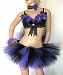 Purple Lavender Roses Rave Outfit