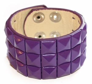 Purple Pyramid Wristband / Bracelet