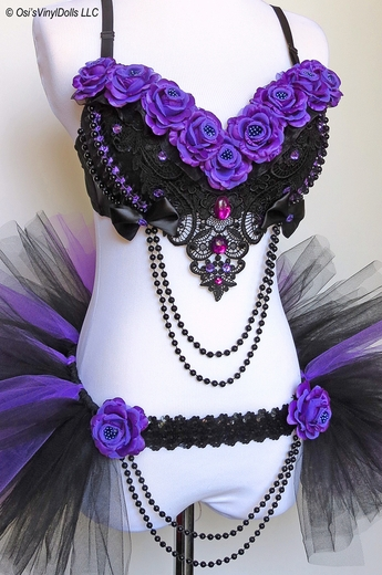 Purple Roses Rave Outfit
