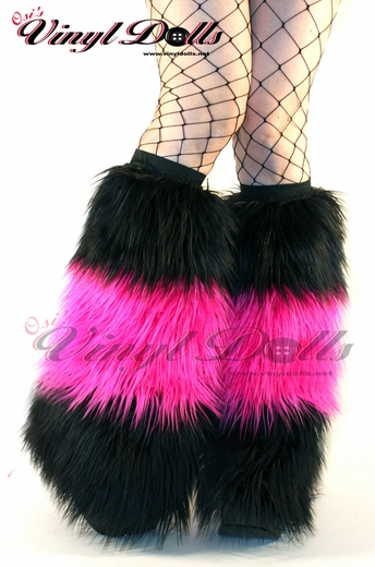 Rave Fluffies in Black and Hot Pink